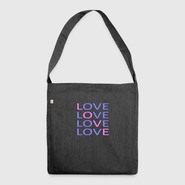 LOVE X4 - Shoulder Bag made from recycled material