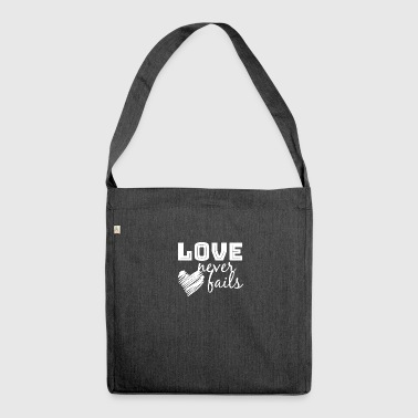 LOVE Never Fails - Shoulder Bag made from recycled material