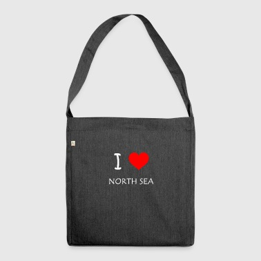 I Love North Sea - Schultertasche aus Recycling-Material