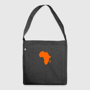african map - Shoulder Bag made from recycled material
