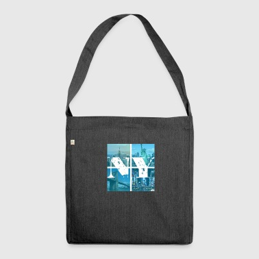 NEW YORK BLUE - Shoulder Bag made from recycled material
