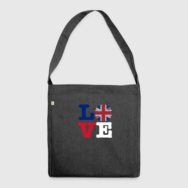 ENGLAND HEART - Shoulder Bag made from recycled material