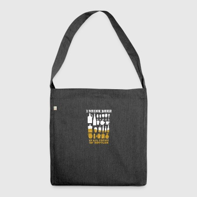 Beer lovers - Shoulder Bag made from recycled material