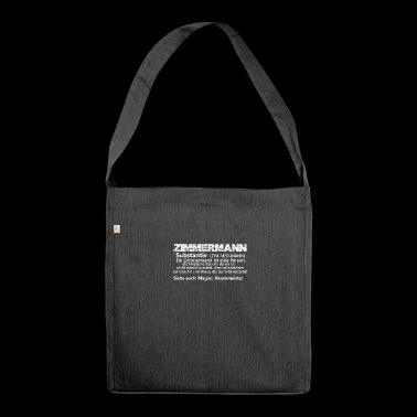 Zimmermannisteineperson substantiv - Schultertasche aus Recycling-Material