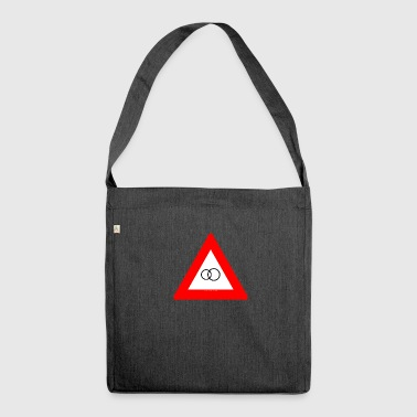 Married road sign red / Married roadsign red - Shoulder Bag made from recycled material