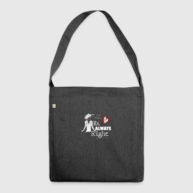 Mrs always Right - Partnerlook Shirt 001 - Schultertasche aus Recycling-Material