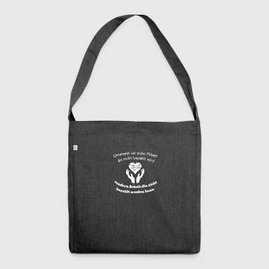 volunteering - Shoulder Bag made from recycled material