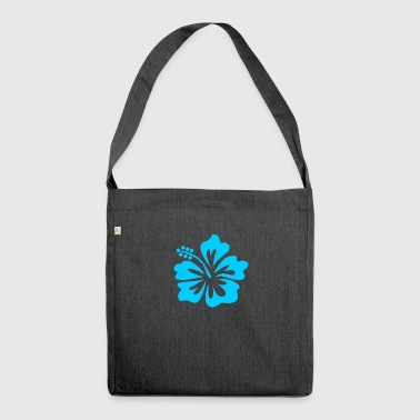 Blue flower - Shoulder Bag made from recycled material