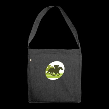 horse race - Shoulder Bag made from recycled material