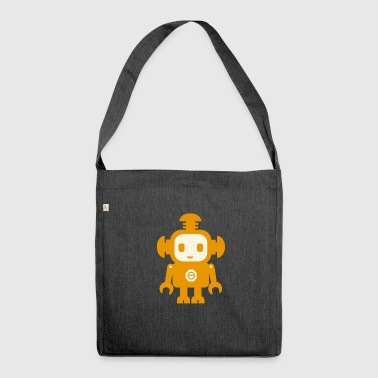 Robot (giallo) - Borsa in materiale riciclato