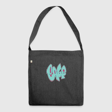 gabbia graffiti blu - Borsa in materiale riciclato