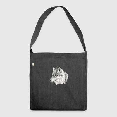 Canis_lupus - Schultertasche aus Recycling-Material