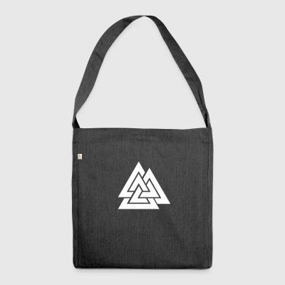 Valknut Hrungnir heart - Shoulder Bag made from recycled material