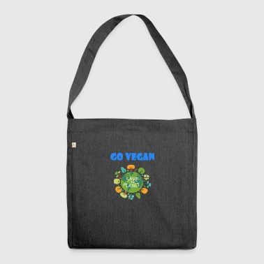 Go Vegan Save the Planet - Schultertasche aus Recycling-Material