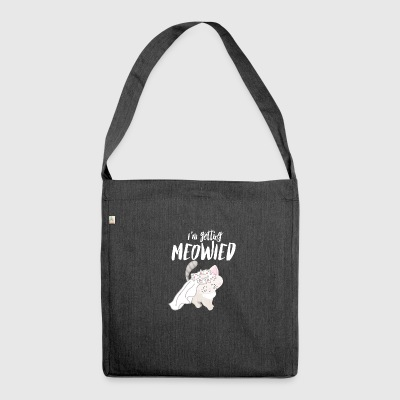 I Marry - Engagement - MEOWied - Miau Cat - Shoulder Bag made from recycled material