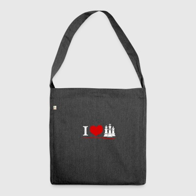 Chess - I love chess - Shoulder Bag made from recycled material