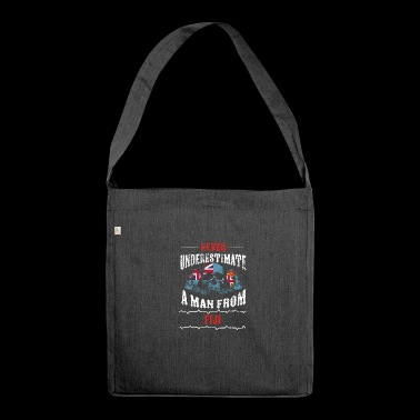 never underestimate man FIJI - Shoulder Bag made from recycled material