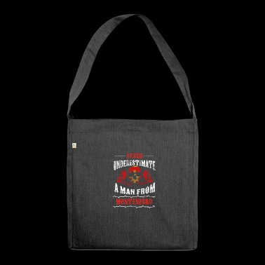 never underestimate man MONTENEGRO - Shoulder Bag made from recycled material