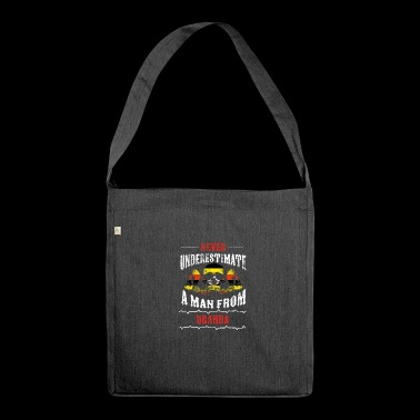 never underestimate man UGANDA - Shoulder Bag made from recycled material
