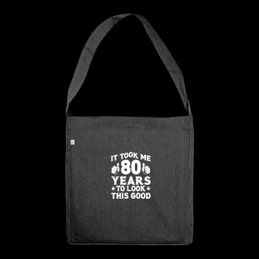 Funny 80th Birthday T Shirt 80th Birthday 80th Birthday - Shoulder Bag made from recycled material