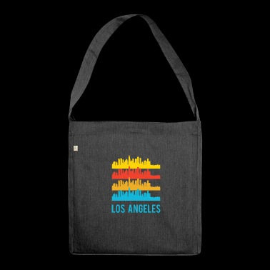 Pop Art / Graphic Novel: Los Angeles Skyline - Skulderveske av resirkulert materiale