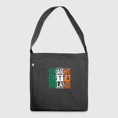 Straight Outta Irlande .png - Sac bandoulière 100 % recyclé