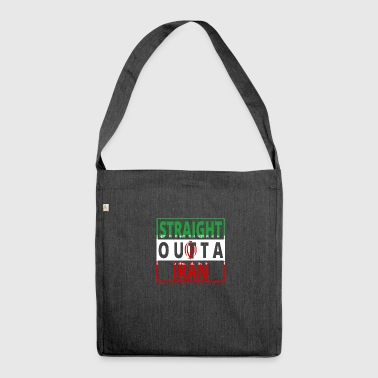 Straight Outta IRAN png - Sac bandoulière 100 % recyclé