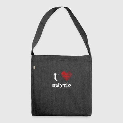 I love minimal techno dubstep raver - Shoulder Bag made from recycled material