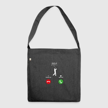 Call Mobile Anruf golf golfing - Schultertasche aus Recycling-Material