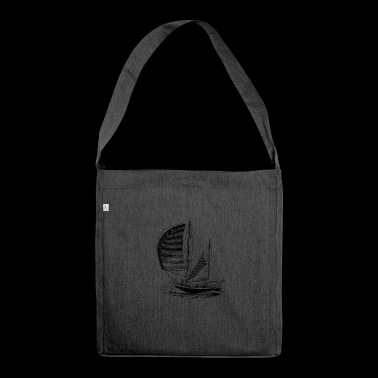 sailboat - Shoulder Bag made from recycled material