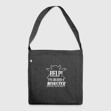 Funny Partner Partnerlook Shirt Help Monster - Shoulder Bag made from recycled material