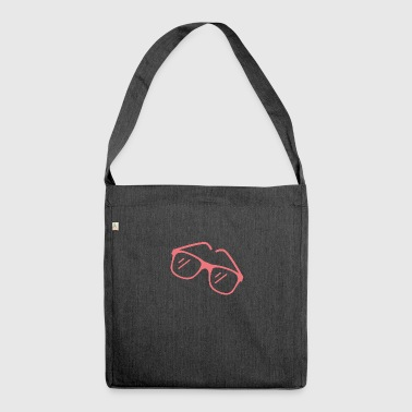 Rote Sonnenbrille - Schultertasche aus Recycling-Material
