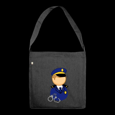 Polizist - Schultertasche aus Recycling-Material