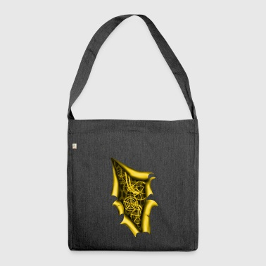 Clockwork Steampunk di rame - Borsa in materiale riciclato