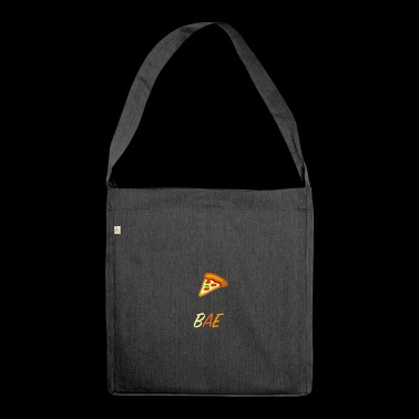Bae and pizza - Shoulder Bag made from recycled material