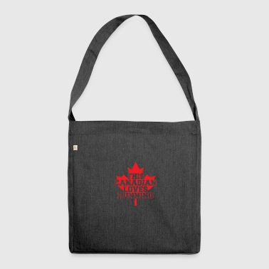 This canadian loves running - Schultertasche aus Recycling-Material