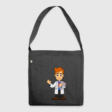 doctor emergency doctor doctor hospital - Shoulder Bag made from recycled material