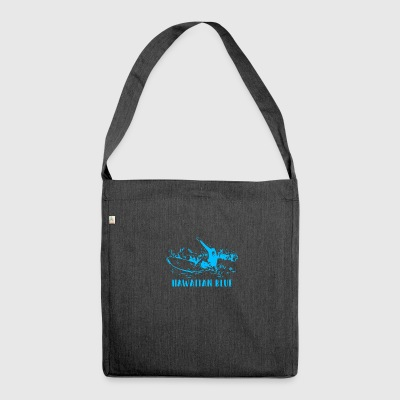 Hawaiian Blue Surfer - Shoulder Bag made from recycled material
