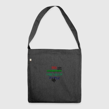 Being a geographer is more than a job - Shoulder Bag made from recycled material