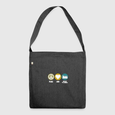 peace love urban planning - Schultertasche aus Recycling-Material