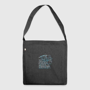 eat rave repeat - Schultertasche aus Recycling-Material