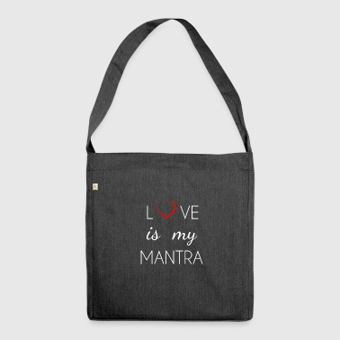 Love is my mantra - Schultertasche aus Recycling-Material