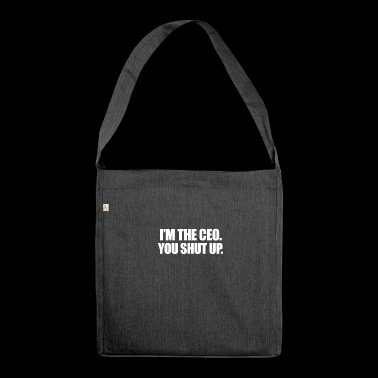im the CEO - Schultertasche aus Recycling-Material