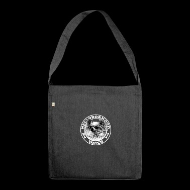 Dog - Neighborhood watch - - Shoulder Bag made from recycled material
