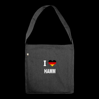 I Love Germany HAMM - Shoulder Bag made from recycled material