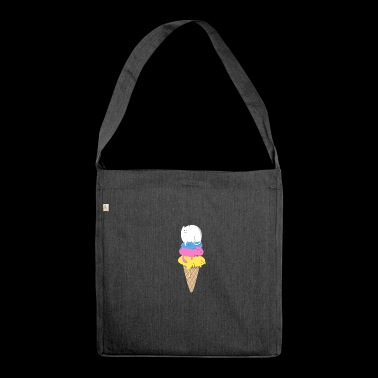 Cute Cat Ice Cream Husdyr Food Lovers Gift - Skulderveske av resirkulert materiale