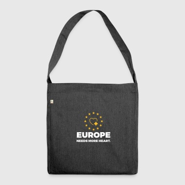 Europe Needs More Heart! - Shoulder Bag made from recycled material