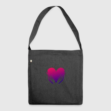 Heart illustration - Shoulder Bag made from recycled material