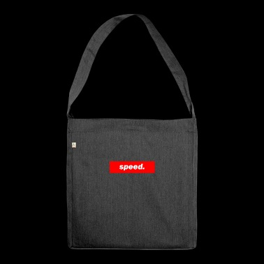 techno mischpult red bass bpm speed - Schultertasche aus Recycling-Material