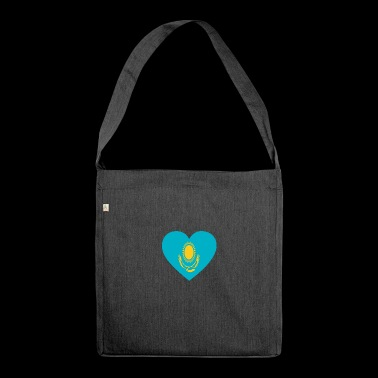Love love gift Kazakhstan Kazakhstan - Shoulder Bag made from recycled material